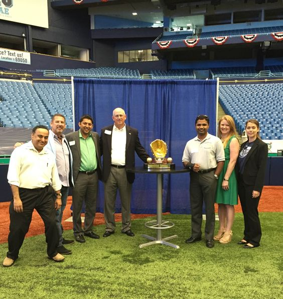 #TeamElevate Global Alzheimers, Eclipse Building Corp., BDO International, Pikmykid.com, Entrepreneurs' Organization - Tampa Bay Chapter, at Tropicana Field for the Tampa Bay Rays Meet and Greet! Leadership Tampa Bay #HelpingOurCity