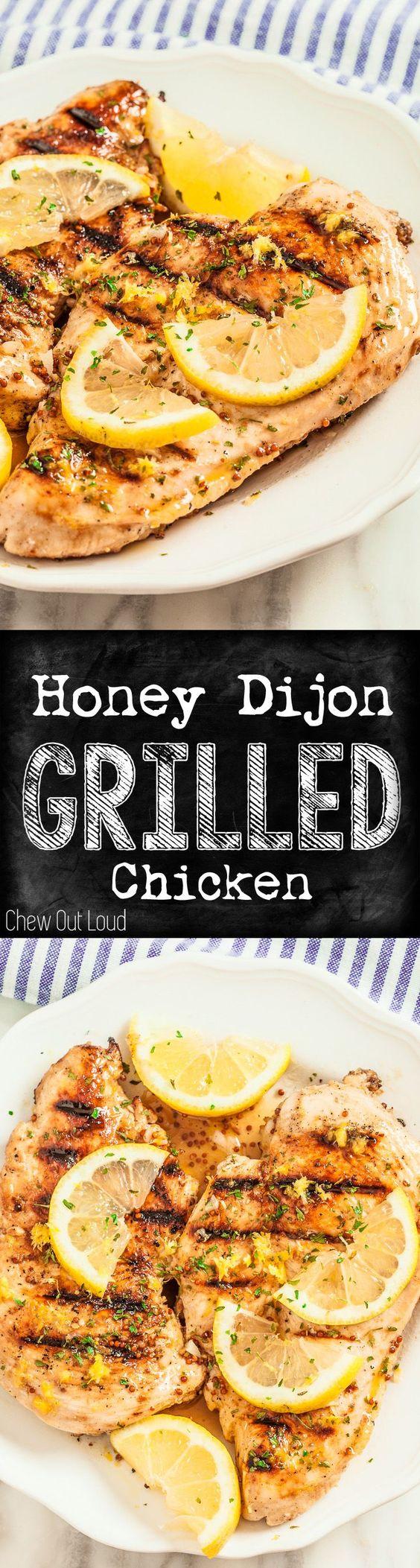 Lemon Dijon Grilled Chicken | Recipe | Recipes Dinner, Lemon and Honey