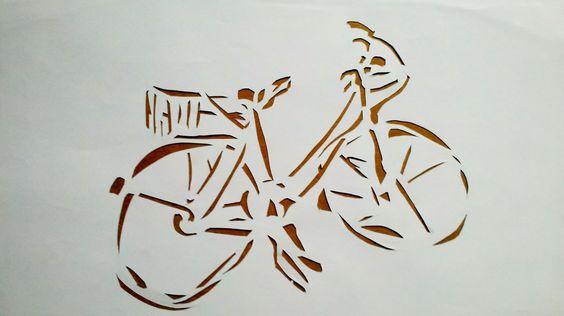 stencil bike art    street
