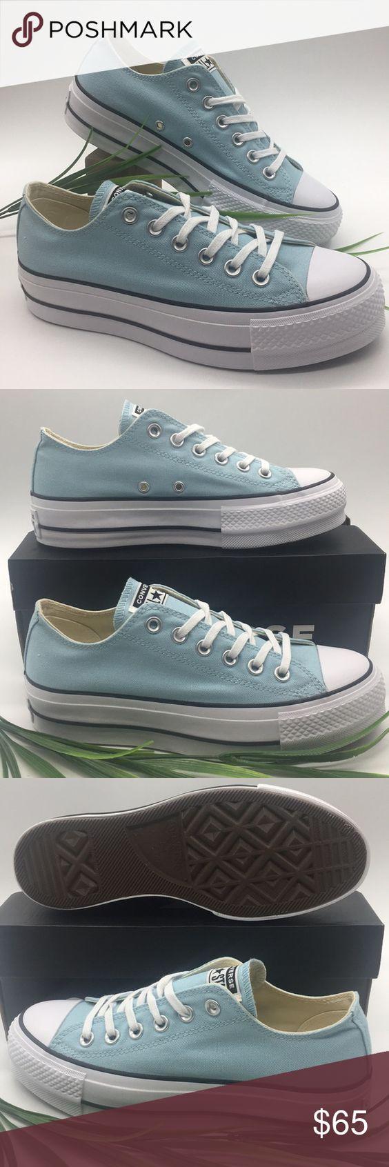 Converse Chuck Taylor All Star Lift OX Womens Shoes Ocean-White-Black 560687C
