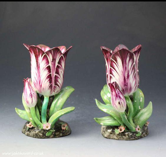 Staffordshire Porcelain  —  A Pair Tulip Vases, c.1820-1835    (768x728):