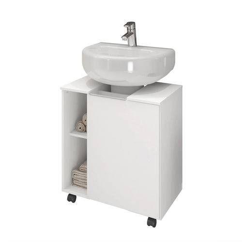 Foto 2 Gabinete Armario Banheiro Para Pia De Coluna Pequin