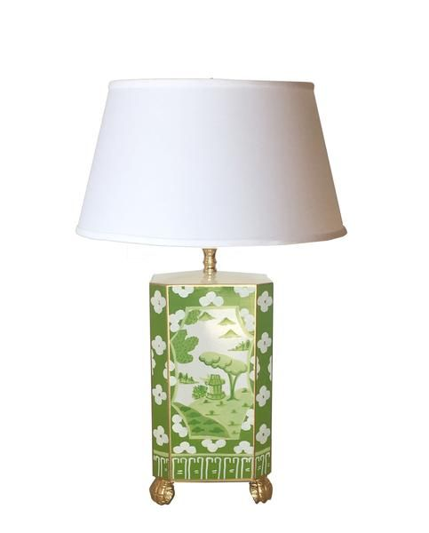 Pin By Maria Castañeda On Room In 2020 Green Lamp Painting Lamps Green Table Lamp
