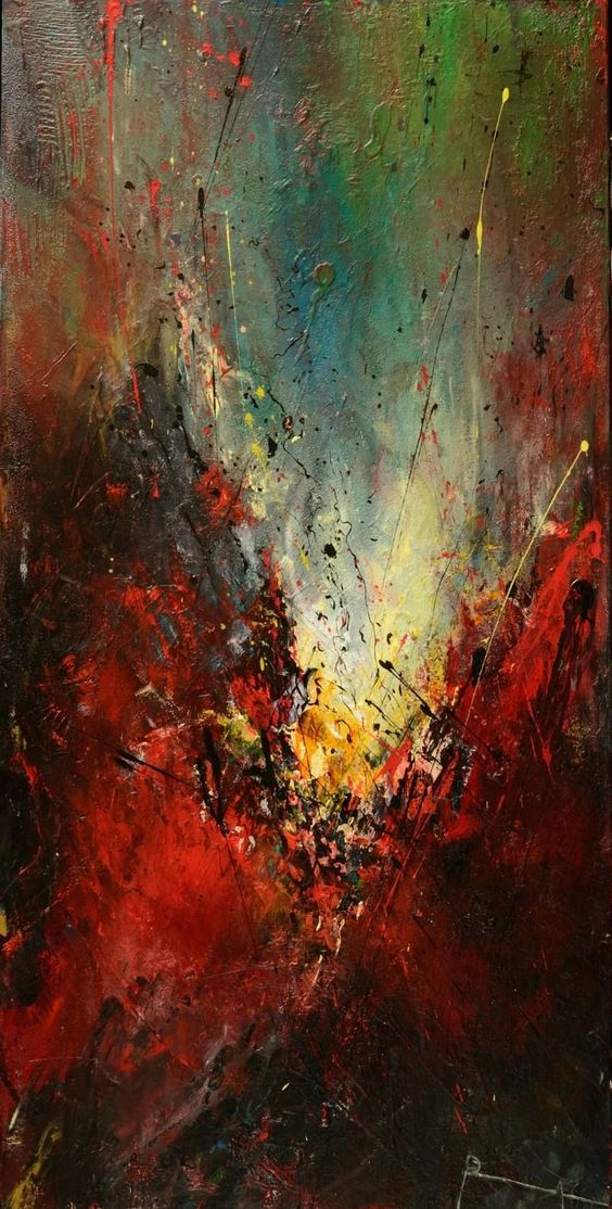 "Interior Design: Saatchi Art Artist Roseline Al oumami Abstract painter; Painting, ""Eclat (price upon request)"" #art #buyabstractart"