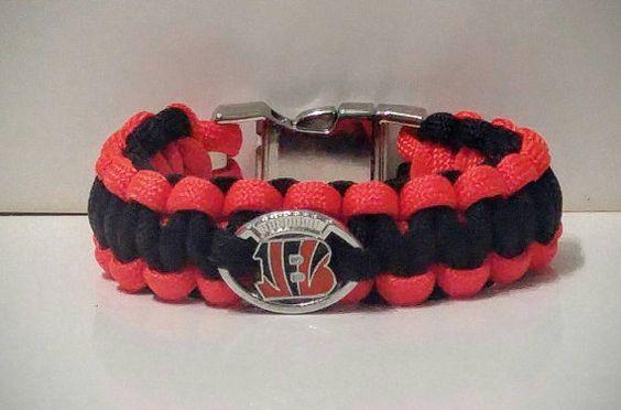 Working on all our NFL teams. Here goes our Bengals bracelet.   https://www.etsy.com/listing/258451020/cincinnati-bengals-paracord-bracelet