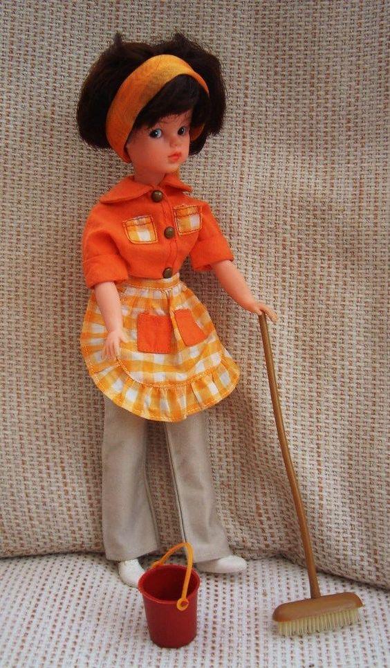 Vintage Sindy - Housework 1968 12S525 - shirt trousers apron pinny - NO DOLL | eBay