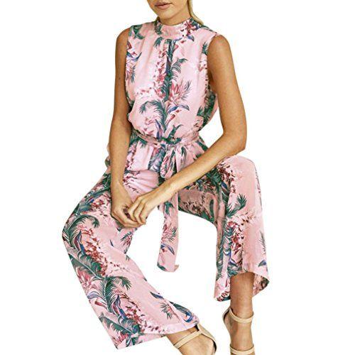 jumpsuit gestreift pink damen