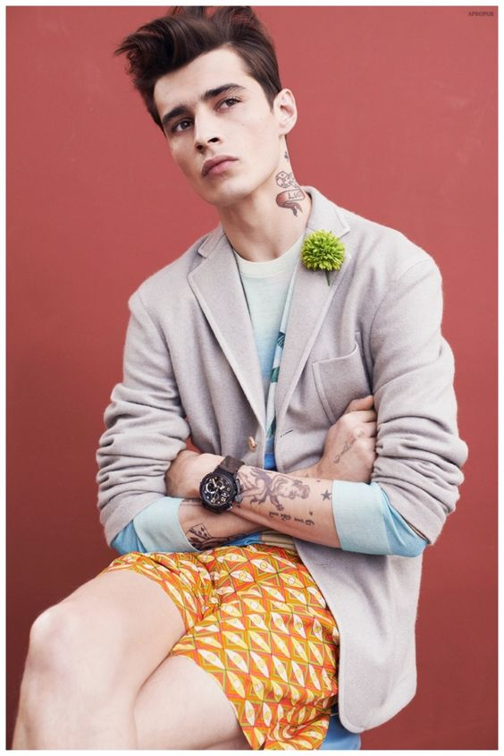 Blue Hawaii: Adrien Sahores Models Summer 2015 Styles for APROPOS The Journal
