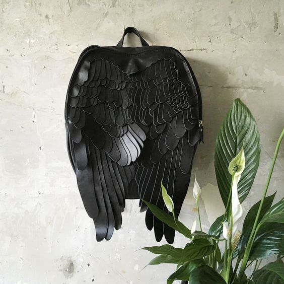 Fanciful Leather Backpacks Let You Sprout a Stylish Pair Of Wings