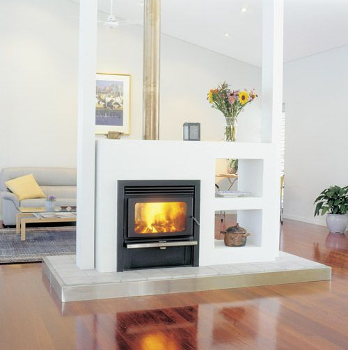Fireplaces built ins and electric on pinterest - Space saving corner electric fireplace providing warmth for your small space ...