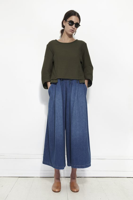 RACHEL COMEY, Ramble Top, Olive | Mr. Larkin