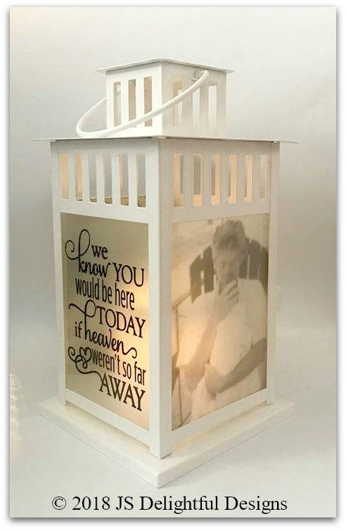 In Memory of Small Box Lantern Personalized Memory Lantern Loved one in Heaven Memorial Lantern Lantern Memory Lantern