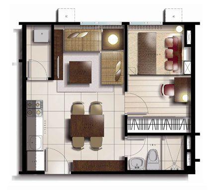 25sqm Floor Plan For Studio Murphy Bed Ideas Pinterest