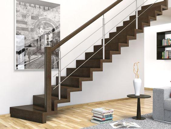 Eima escaleras escaleras de madera gradas de madera for Escaleras metalicas para interiores de casas