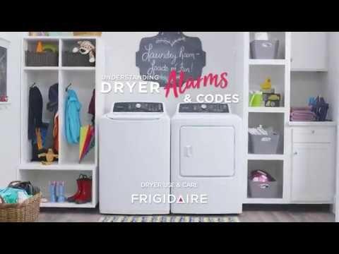 Understanding Dryer Alarms Codes Https Www Youtube Com Watch V