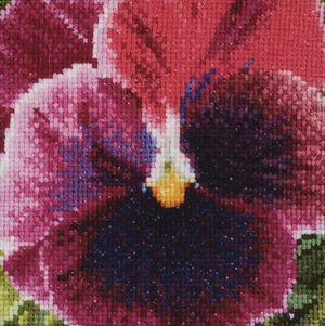 Pansy: Crimson de Thea Gouverneur - Fleurs & Fruits - Kit Broderie - Casa Cenina