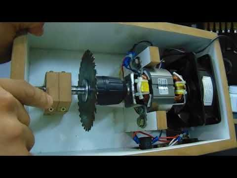 Mini Serra De Bancada Com Motor De Liquidificador Mini Bench Saw