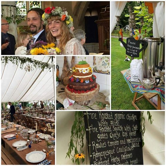 Recipe for a truly wonderful chilled out wedding.. Beautiful bride groom with the coolest dreads perfect Purton venue 20000 calorie cake made by mum  wedding meal made with love by aunties.. Washed down with the best tea and coffee from Edgcumbes...rain courtesy of British Weather Patterns.. Marriage made in heaven!