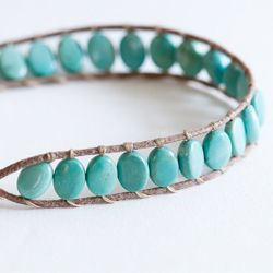 DIY: Wrapped bracelet tutorial