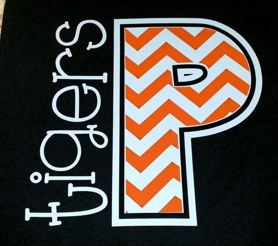 ORIGINAL DESIGN -  Chevron Team Spirit T Shirts by The Walnut Street House, baseball mom, football mom, soccer mom shirt