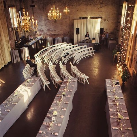Indoor ceremony and reception perfect for ceremony and for Wedding ceremony table decorations