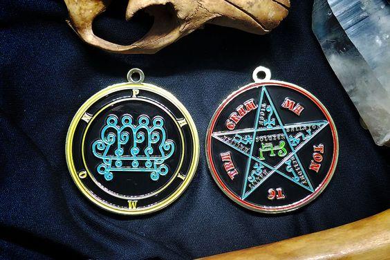 Seal Of Paimon Ars Goetia Demon Sigil Lesser Key Of Etsy Sigil Aleister Crowley Great King