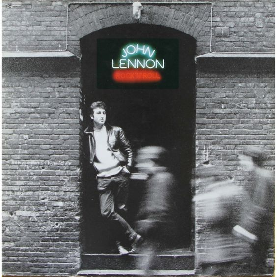 Album cover, Rock 'n' Roll by John Lennon, 1975.