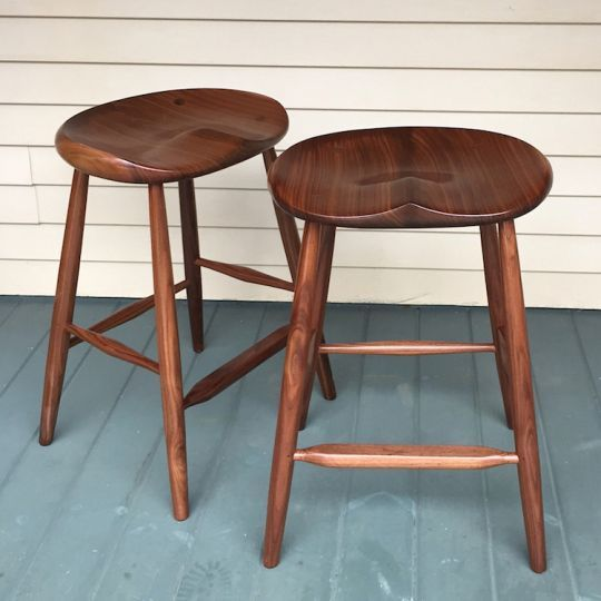 Black Walnut Stool 25 For Kitchen Counter Kitchen Island With