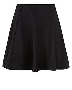 Teens Black Scuba Skater Skirt  | New Look