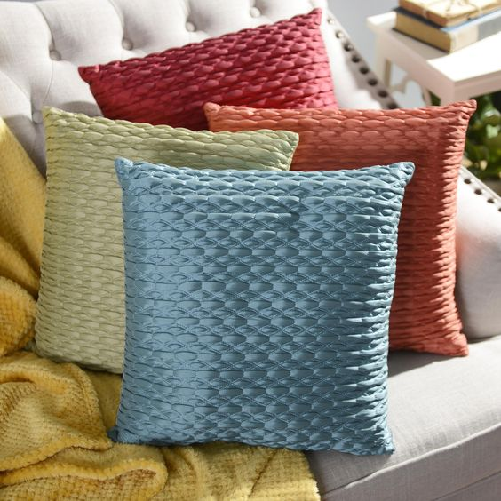 Elegant and shiny, these Mave Throw Pillows are a stunning edition for your bedroom or living room!