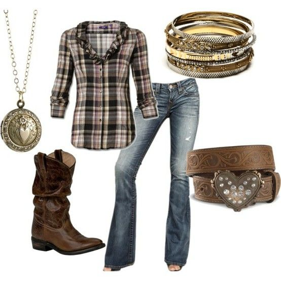Cowgirl :) with skinny jeans instead