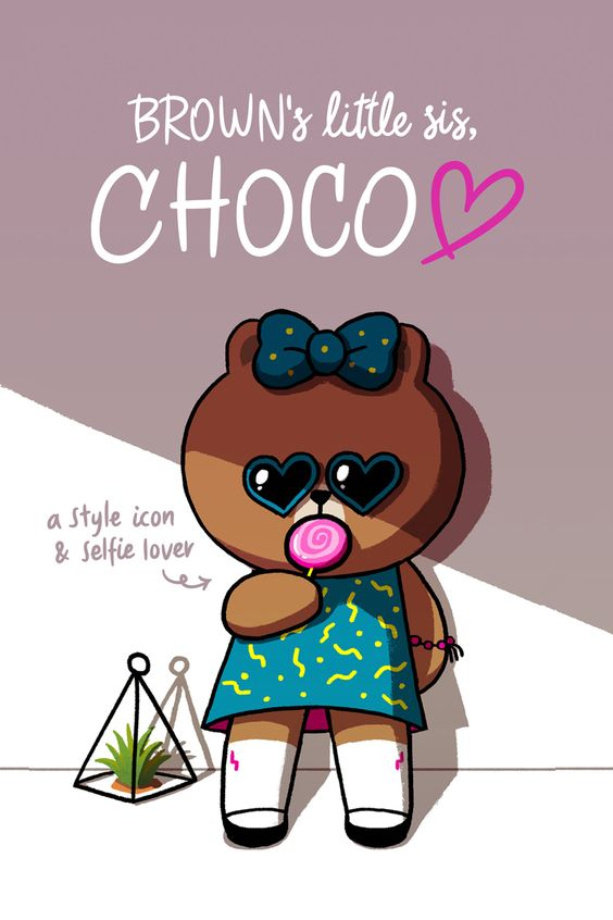 Brown's sister, choco