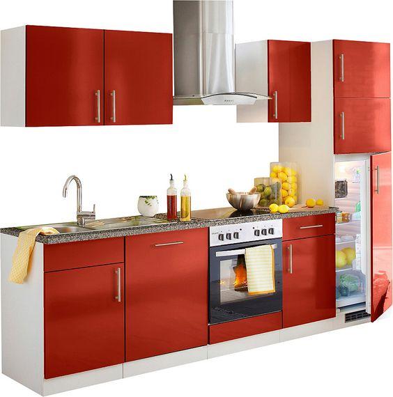 Küchenzeile »Kiel«, Breite 280 cm Jetzt bestellen unter   - küchenzeile 220 cm mit elektrogeräten