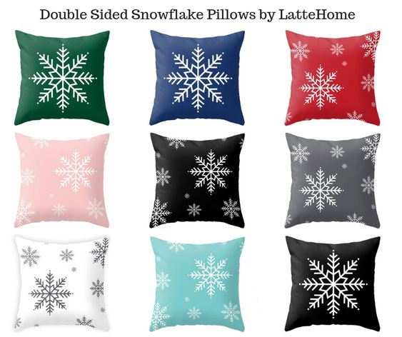 Double Sided Snowflake Pillows by LatteHome