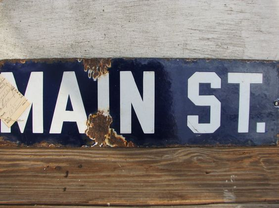 A perfect old street sign for the current  colour palette! :)   http://www.facebook.com/pages/Isabella-Sparrow/168669793217964