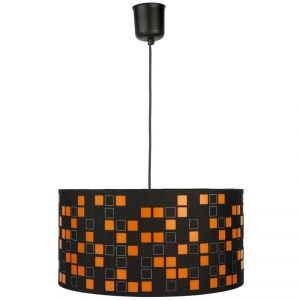 suspension de plafond vintage aquilon luminaire orange et noir top tendance luminaires style. Black Bedroom Furniture Sets. Home Design Ideas
