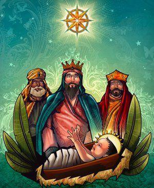 """Le 6 janvier, l'Épiphanie commémore la visite des trois rois mages, venus porter les présents à l'enfant Jésus, qu'ils appelèrent le """" Nouveau Roi des Juifs """". Les mages ayant appris la naissance de Jésus, vinrent de """"pays étrangers"""" lui rendre hommage..."""