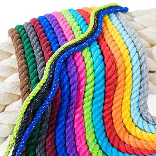 3 16 In X 1100 Ft Twisted Cotton Rope Cotton Rope Macrame Macrame Cord