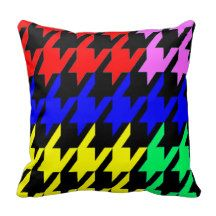 HOUNDSTOOTH COLOUR PILLOW