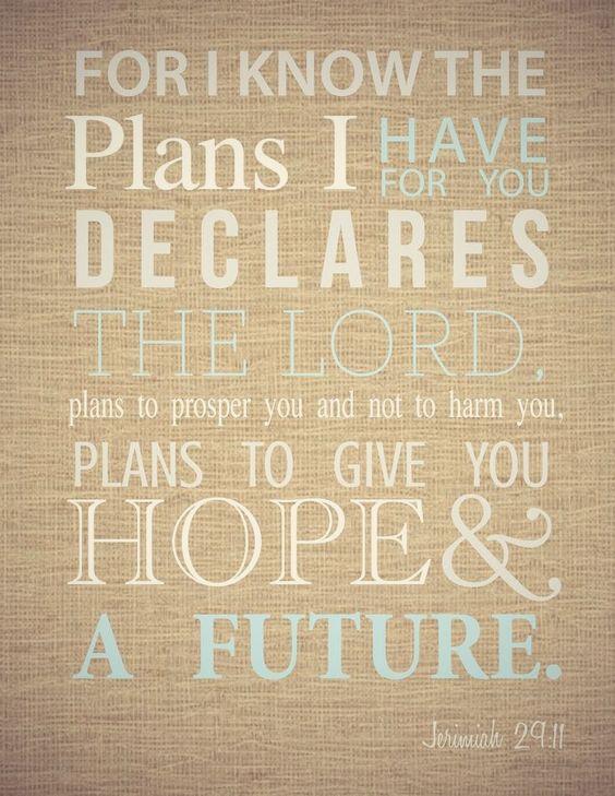 Jeremiah 29:11~