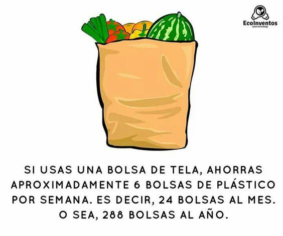 Usa bolsas de tela