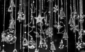 Adornos navideños de cristal