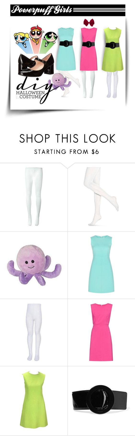 """DIY Halloween Costume"" by vingananee ❤ liked on Polyvore featuring Comme des Garçons, THE POWERPUFF GIRLS, Hue, Diane Von Furstenberg, Yves Saint Laurent, claire's, French Sole FS/NY, powerpuff, halloweencostume and DIYHalloween"