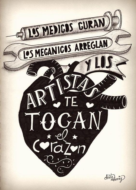 Los médicos curan, los mecánicos arreglan y los artistas te tocan el corazón - www.dirtyharry.es