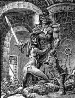 Conan Saves Dame Comic Art