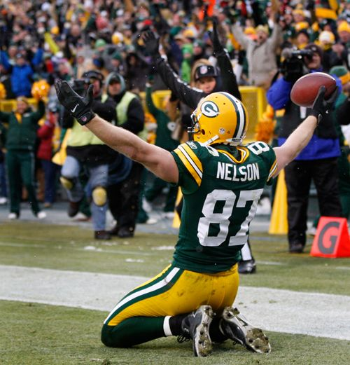 Jordy Nelson makes the catch!! | End Zones & Finish Lines ...