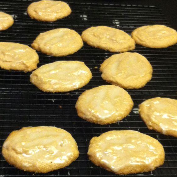 Lemon shortbread cookies with lemon glaze. http://www.food.com/recipe ...