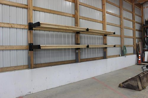 Post Rack Shelf Bracket At Menards Barn Storage Pole Barn Plans Diy Pole Barn