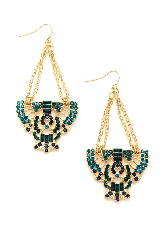 ideeli | OLIVIA WELLES Winged Emblem Earrings