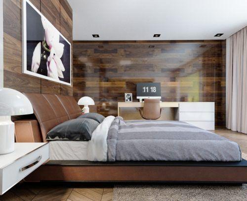 einrichtung holzwände schlafzimmer komplett gestalten ...